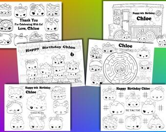 Num Noms  Birthday Party favor, Num Noms coloring pages, PDF file