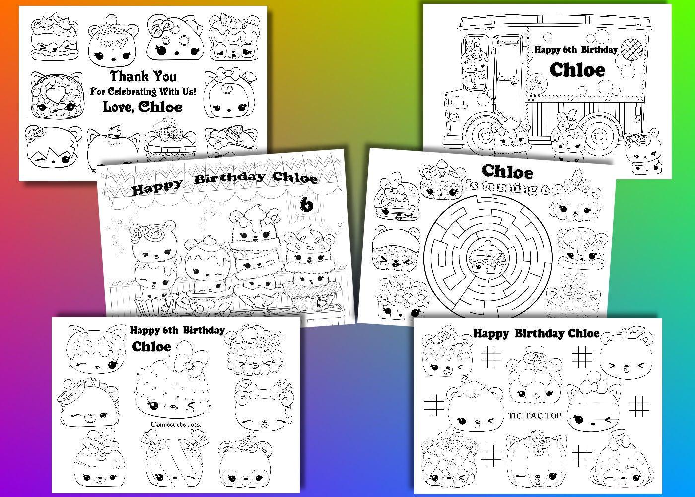 Num Noms Birthday Party favor Num Noms coloring pages PDF