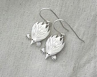 Echidna earrings in sterling silver