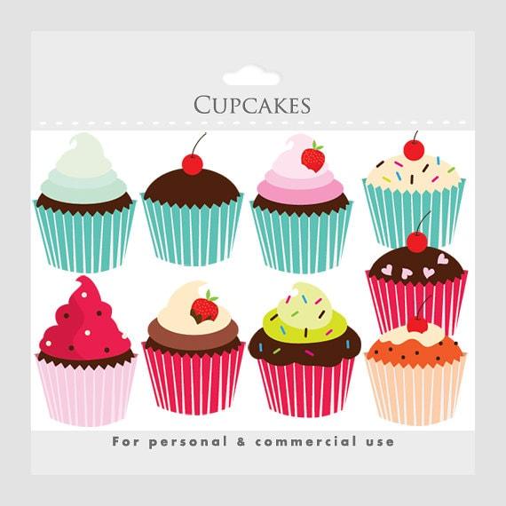 cupcakes clipart cupcake clip art digital clipart for rh etsystudio com bakery clipart bakery clip art images