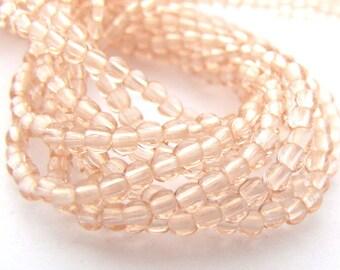 NEW Rosaline Pink 2mm Smooth Round Czech Glass  Beads 100pc #2931