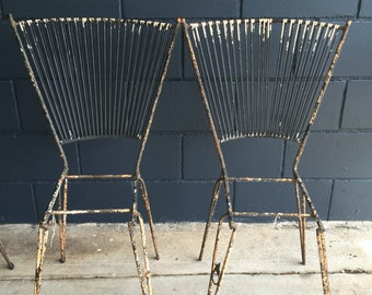 Vintage Wrought Iron Chairs