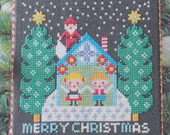Modern Christmas Cross Stitch Pattern | Gera! Counted Cross Stitch Pattern by Kyoko Maruoka - SANTA Has Come I