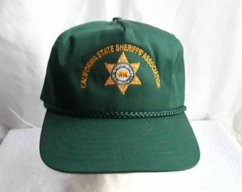 California  State Sheriff  Association Baseball Cap  Nissin / New