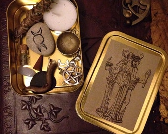 Hecate Witch Box, Goddess Protection Altar, Wicca, Shrine