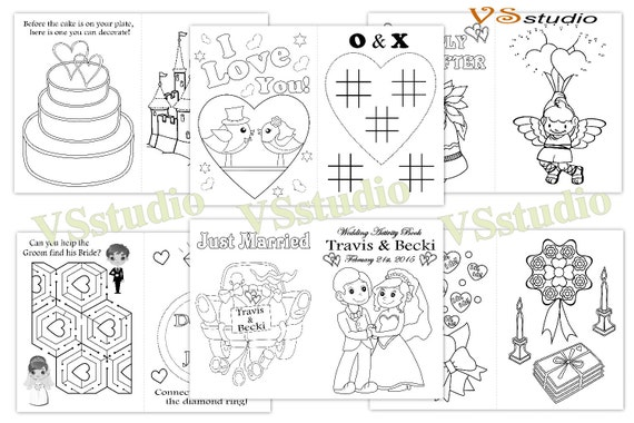 kids wedding activity coloring book personalized wedding coloring pages pdf - Activity Coloring Pages