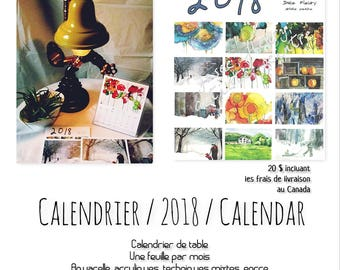 Calendar / 2018 / Calendar - with support (box cd) - Calendar painting - calendar office - calendar for her - for him
