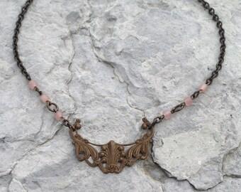 Art Nouveau Brass Necklace
