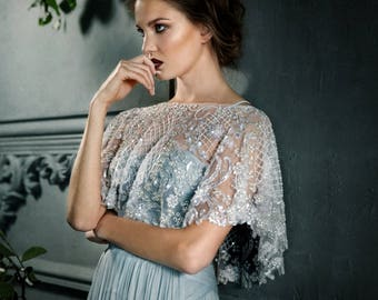 Lumiere - Dazzling Luminescent Beaded Bridal Capelet