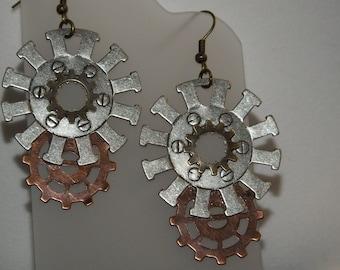 Gears. Steampunk Earrings