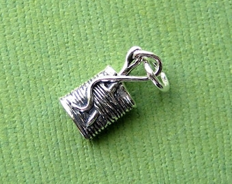 Sterling Silver Needle and Thread Charm