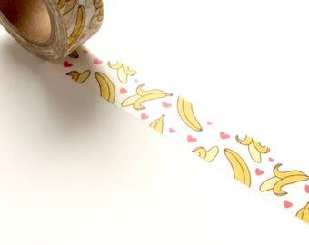 Bananas and Hearts Washi Tape