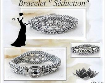 """Schéma bracelet """" Séduction"""" en Français"""