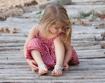 Gilrs sandalias, sandalias niños, sandalias de cuero blanco, sandalias planas, verano zapatos, sandalias, envío gratis
