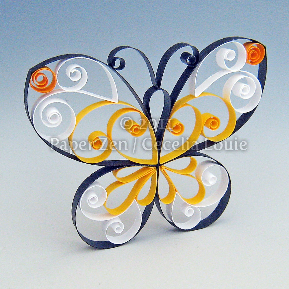 Butterfly Quilling Patterns PDF Tutorial for Quilling Butterfly Tutorial  166kxo