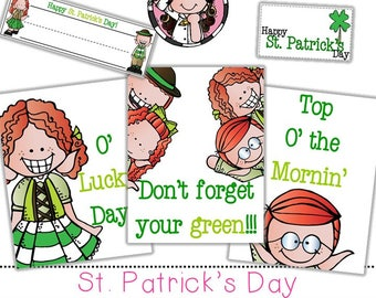 St Patrick's Day  clip art and printable set