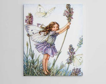 Lavender Flower Fairy Wall Art