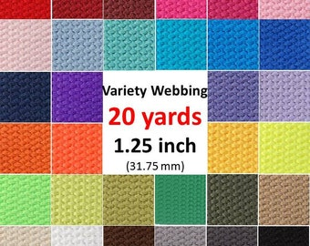 Cotton Webbing 20 yards You Pick Colors Key Fobs Belts Purse Bag Straps Leash