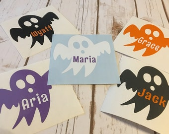 Ghost Decal - Fall Decal - Halloween Decal - Ghost Vinyl Decal - trick or treat bucket - trick or treat pail - vinyl decal - monogram decal
