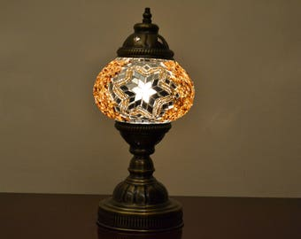 Turkish Handmade Mosaic Lamp Desk Lamp