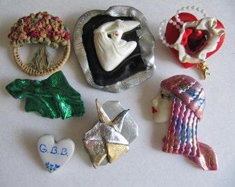 Lot Broches, Jewelry, Detash, Lot, Brooch, Vintage Detash Jewelry, Art Supplies, Supplies, Craft Supplies, Art, Detash Jewelry