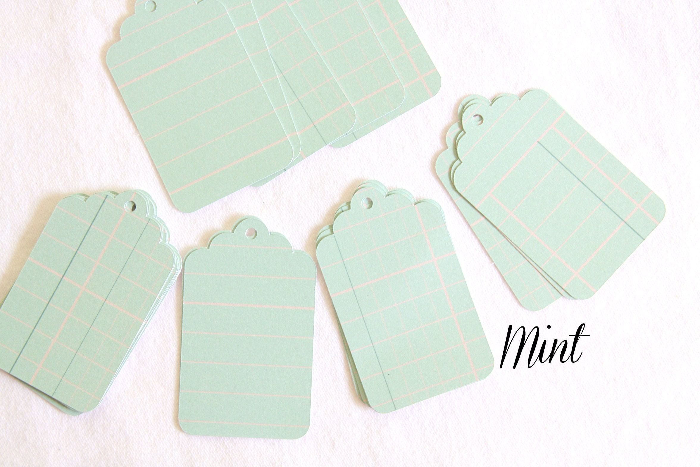 Mint and Blush Wedding Favor Tags, Make Your Own Baby Shower and ...