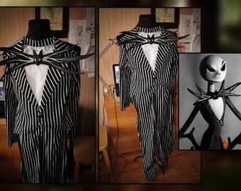 Jack Skellington Cosplay Nightmare Before Christmas Xmas Halloween Costume