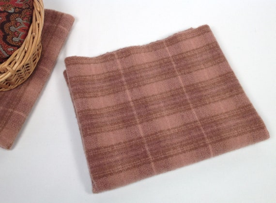 Teaberry Rose, Wool Fabric for Rug Hooking and Applique, Select-a-Size, W459, Dusty Salmon, Muted Pink, Primitive Rose