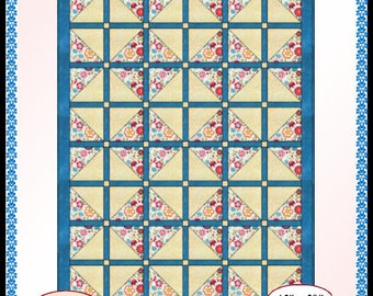 Downloadable Through The Window Again Quilt Pattern Easy 3 Yard design