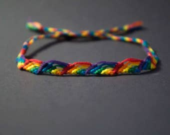 Gay Pride Friendship Bracelet, Rainbow Arch