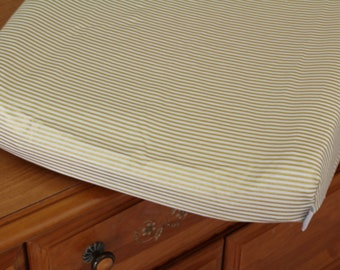 Changing Pad Cover | Metallic Gold Stripe