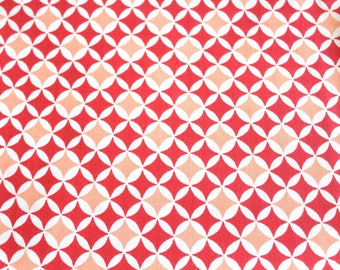 Laminated cotton fabric 50 x 70 cm graphic coral