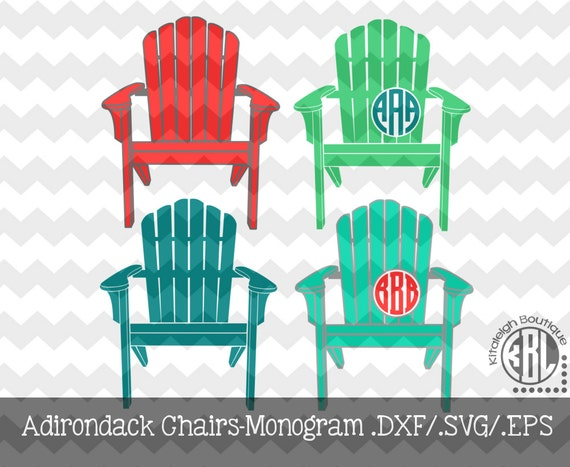 Monogram Adirondack Chairs .DXF/.SVG/.EPS File For Use With