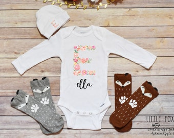 Personalized Baby Gift, Personalized Take Home Outfit, Baby Shower Gift, Baby Girl Clothes