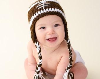 Baby Football hat - Baby Sports hat - football fan hat for baby - newborn Football Hat - Sports Team Hat - Newborn Photo Prop -