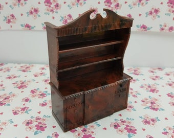 Renwal  China Hutch  Doll House Toy Hard Plastic Dining room cupboard