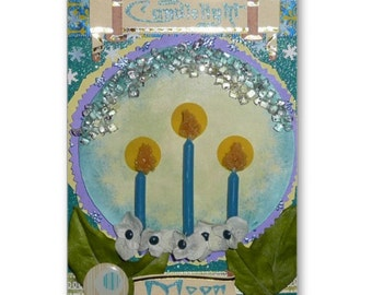 CANDLELIGHT Moon IMBOLC Note Card 12 FAIRY Moons February