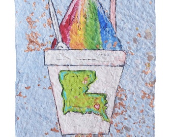 Louisiana Rainbow Snowball- PRINT (matted to 11x14)