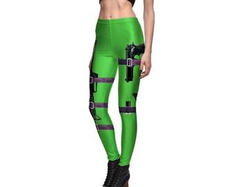 Black Gun Green Leggings
