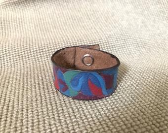 Children's Colorful Leather Bracelet