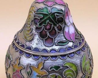 Pear Shaped Lidded Trinket Box - Russian style Cloisonne