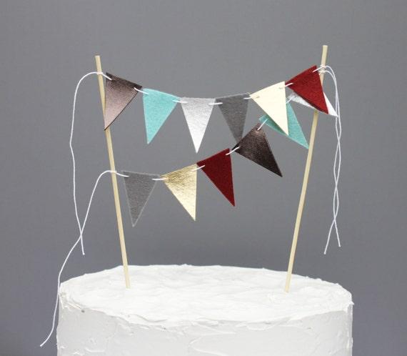 Steampunk Wedding Cake Topper Banner