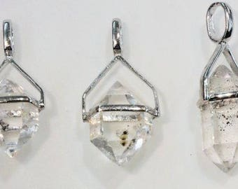 "Herkimer ""Diamonds"" in Sterling Silver Settings"