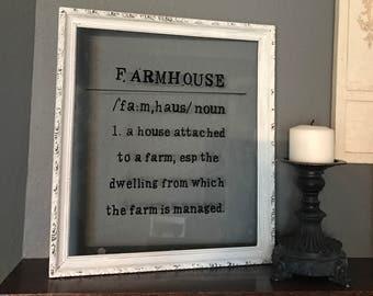 Farmhouse French Country Farmhouse Sign, farmhouse rustic, farmhouse decor, shabby chic
