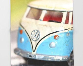 Volkswagen Bus Throw Blanket, Light Blue Blanket, Fleece Blanket, Soft Blanket, Sherpa Blanket, Dorm Decor, Man Cave Decor, Manly Gift