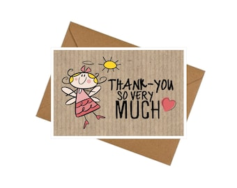 10 Pack Little Angel Thank-you Cards