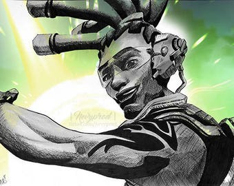 LUCIO (Inktober 2017) from Overwatch