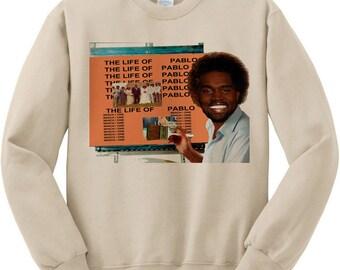 Kanye west tlop portrait life of pablo i feel like pablo travis scott rodeo rocky kid cudi t shirt rap - fleece sweatshirt sweater tan