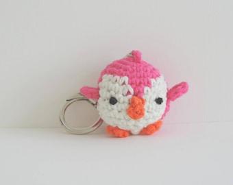 Penguin plush Keychain miniature decorative made handmade, birthday gift, mother's day, cute Penguin