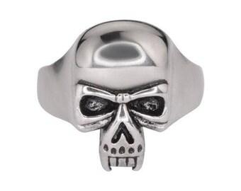 GentsVampire Skull Ring Stainless Steel Motorcycle Biker Jewelry